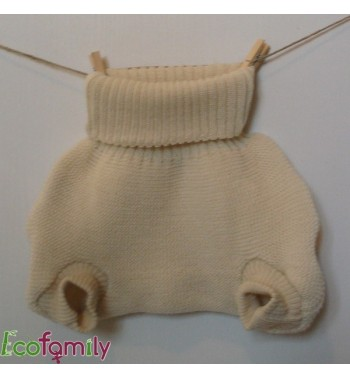 Knitted wool cover pant