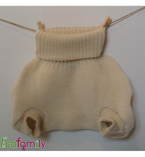 Culotte en laine tricotée
