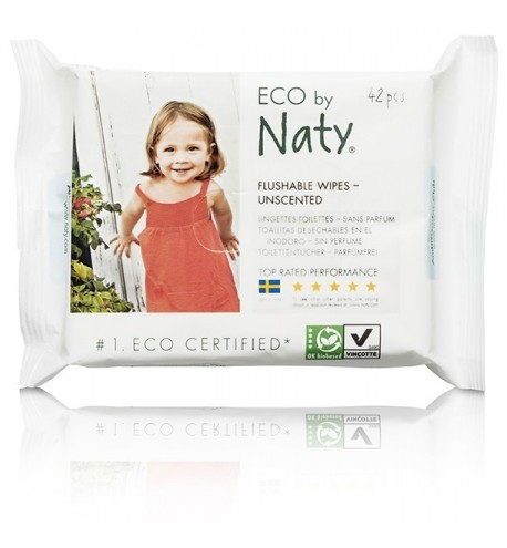 Naty Eco Wipes Toilets Flushable