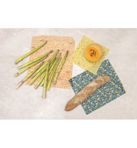 Rectangular 3 pieces beeswax wrappers